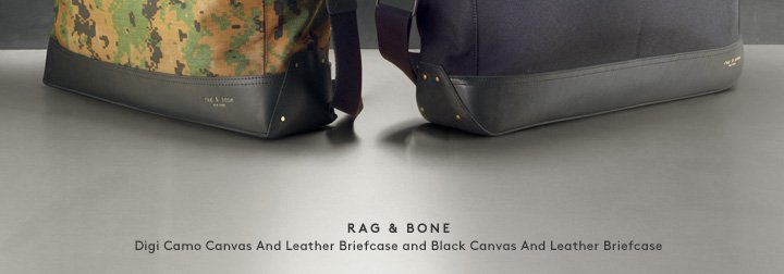 Take a little style to the office with new Rag & Bone briefcases.