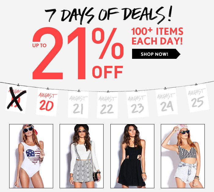 7 Days of Deals! - Shop Now