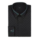 Slim-Fit Black Regent Spot Print Shirt