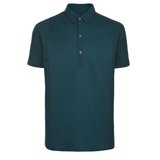 Green Panelled Polo Shirt