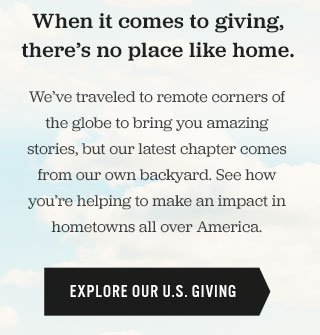 Explore our U.S. Giving