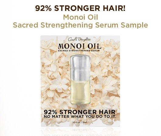 Monoi Oil Sacred Strengthening Serum Sample