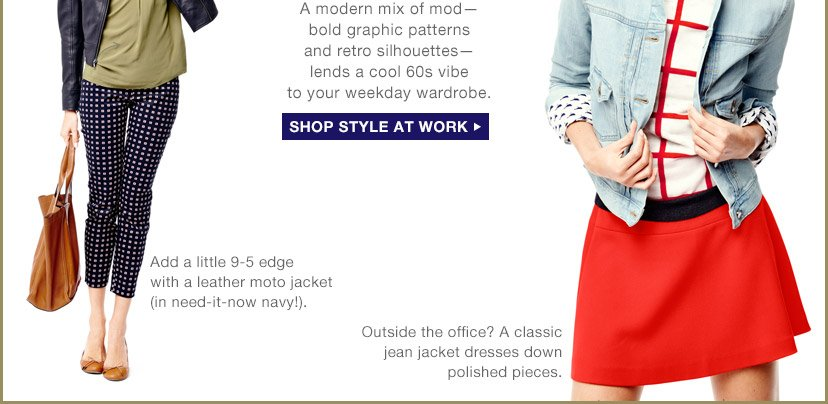 SHOP STYLE AT WORK