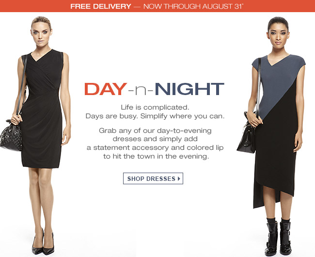 SHOP DRESSES + FREE DELIVERY