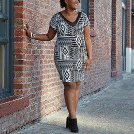 Black & White: Plus-Size Apparel