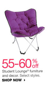 55-60% off Student Lounge furniture and decor. Select styles. SHOP NOW
