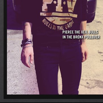 PIERCE THE VEIL BULLS IN THE BRONX PULLOVER