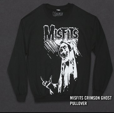 MISFITS CRIMSON GHOST PULLOVER