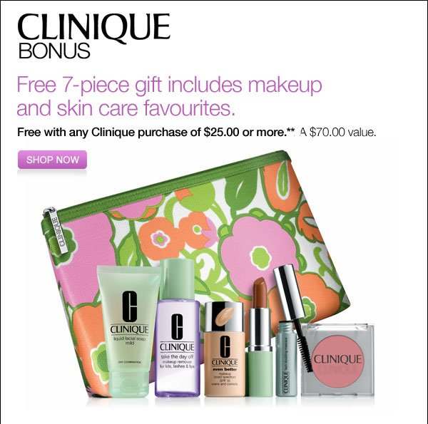 Free 7-piece gift including makeup and skin care favourites. Shop Now
