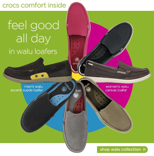 get comfort inside - feel good all day in walu loafers - shop walu collection