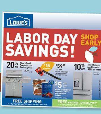 Labor Day Savings Shop Early