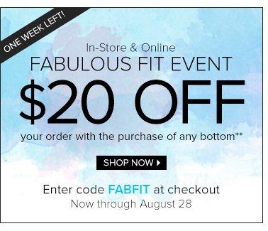 Shop the Fabulous Fit Event