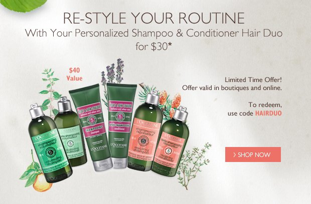 Re-Style your Routine With your Personalized Shampoo & Conditioner Hair Duo