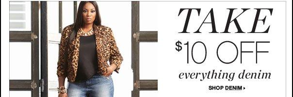 Take $10 Off Everything Denim