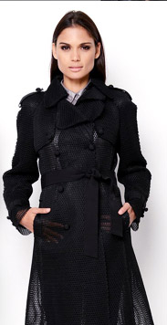 Dolce & Gabbana Mesh Lined Coat - Made In Italy