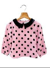 Beebay Polka dot Print Collared Girl's Blouse