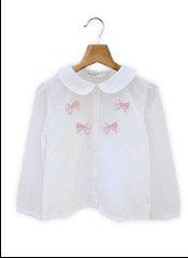 Beebay Bow Embellished Collared Girl's Blouse