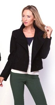 Kenneth Cole Wool Blend Button Coat