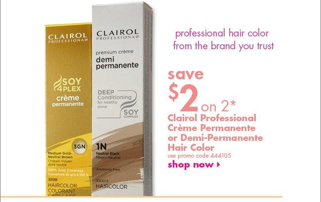 Clairol Professional Crème Permanente or Demi-Permanente Hair Color