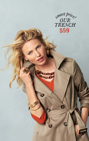 Smart Price! Our Trench $59