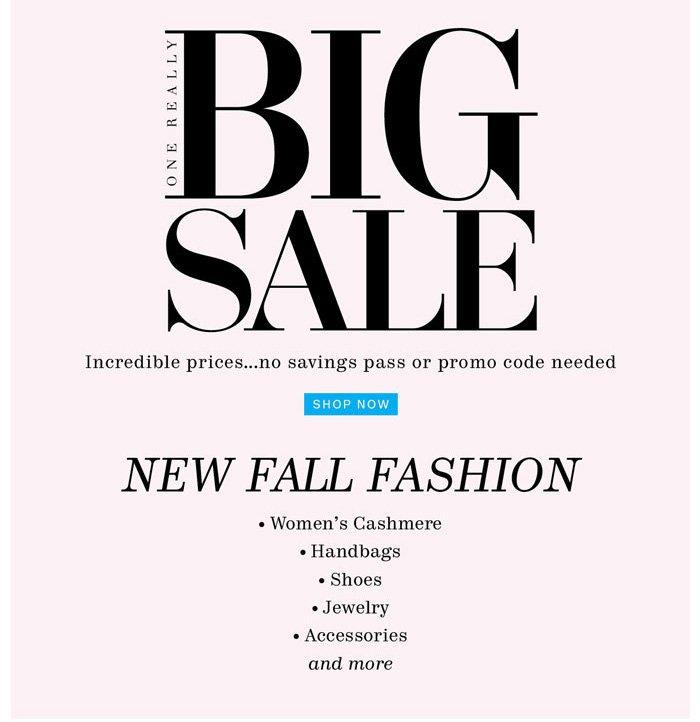 big sale shop now