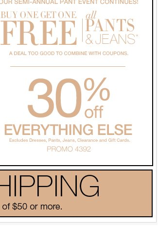 FREE SHIPPING when you spend $50 or more. SHOP NOW!