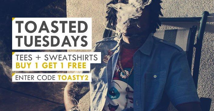 Tees & Sweatshirts Buy 1, Get 1 Free