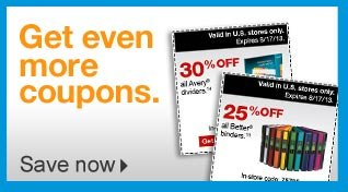 Get  even more coupons. Save now.