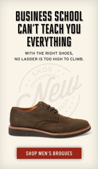 Business school can't teach you everything - Shop Men's Brogues