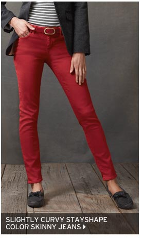 Slightly Curvy StayShape® Skinny Color Jeans