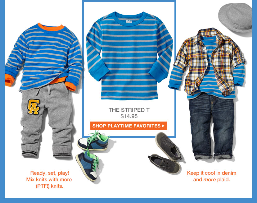 THE STRIPED T $14.95 | SHOP PLAYTIME FAVORITES
