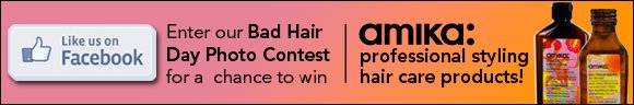 Enter our Bad Hair Day photo contest for a chance to win Amika professional styling hair care products