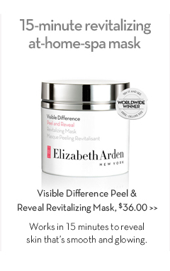 15-minute revitalizing at-home-spa mask. Visible Difference Peel & Reveal Revitalizing Mask, $36.00. Works in 15 minutes to reveal skin that's smooth and glowing.
