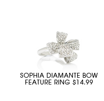 Sophia Diamante Bow Feature Ring