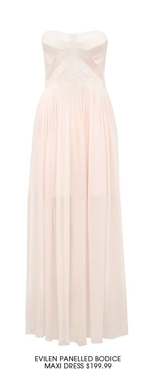 Evilen Panelled Bodice Maxi Dress