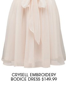 Crysell Embroidery Bodice Dress