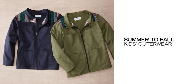SUMMER TO FALL: KIDS' OUTERWEAR, Event Ends August 25, 9:00 AM PT >