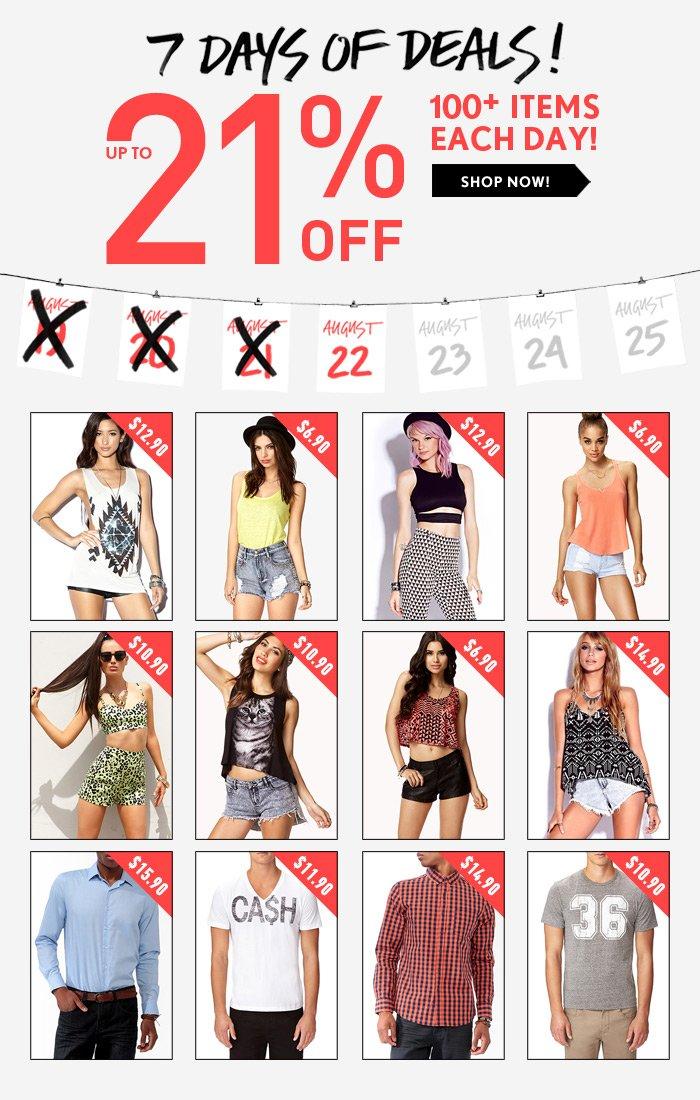 7 Days of Deals! - Shop Now