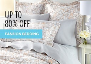 White Sale: Fashion Bedding Up to 80% Off