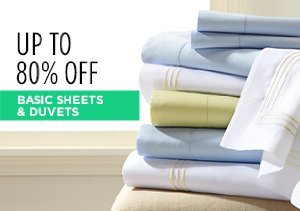 White Sale: Basic Sheets & Duvets Up to 80% Off