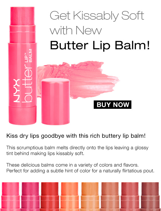 Get kissably soft with new Butter Lip Balm!