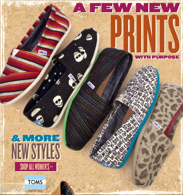 Prints with Purpose + New Styles from TOMS