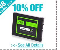 48 HOURS ONLY! 10% OFF SELECT REFURBISHED SOLID STATE DRIVES!*