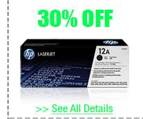 30% OFF ALL HP TONERS!*