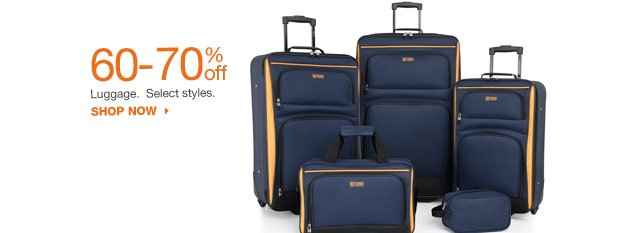 60-70% off Luggage.  Select styles. shop now