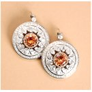 Ladies Cubic Zirconia Earrings Made Of 925 Sterling Silver