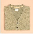 Nuco Two-Tone Raw Edge Cardigan