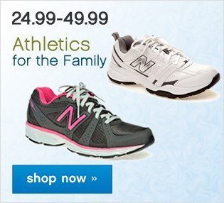 Athletics for the Family. Shop now.
