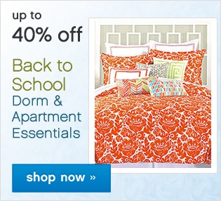 Up to 40% off Back To School Bedding. Shop now.
