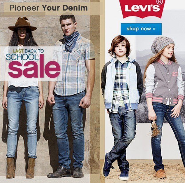 Back to School Sale. Levi's® You can never have enough jeans. Shop now.